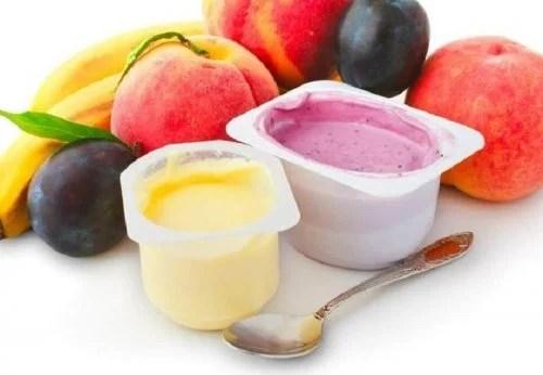 Yogures de sabores y frutas