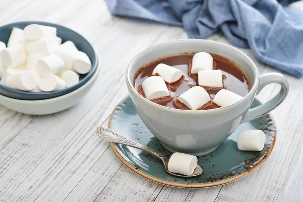 Chocolate caliente con malvaviscos