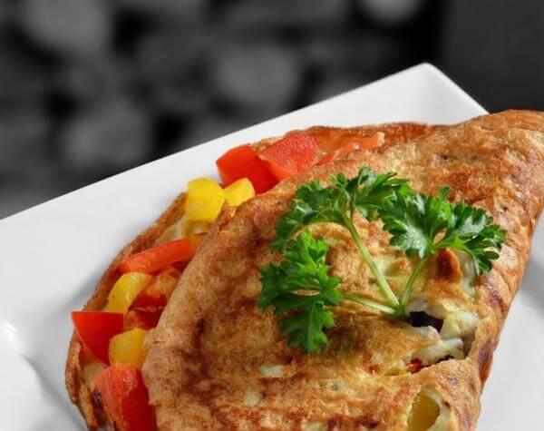 Receta para omelette de verduras