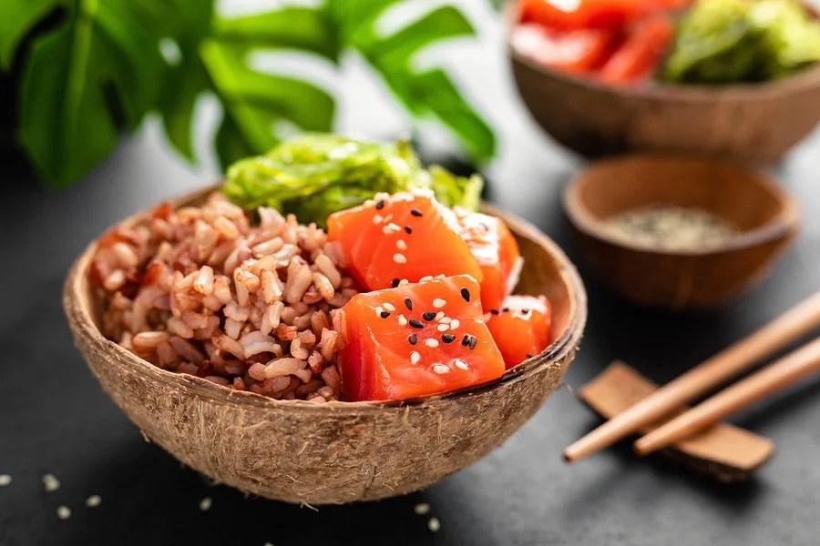 Ensalada de arroz con ahumados