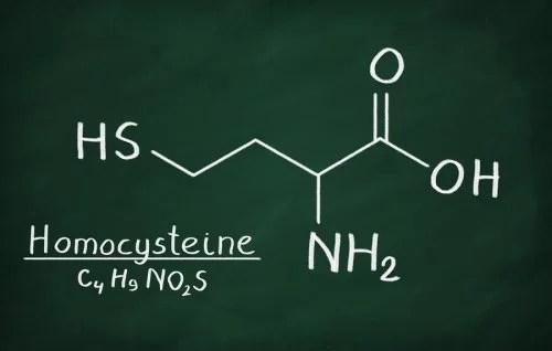 Molécula de la homocisteína.