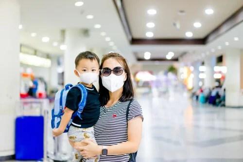 madre e hijo protección contra el coronavirus