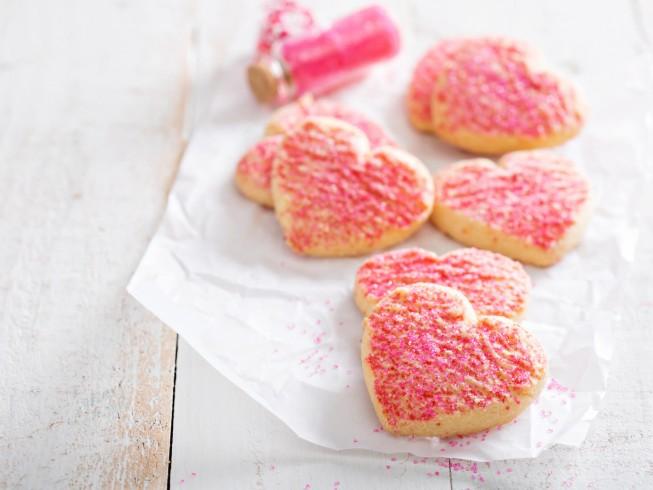 galletas de azúcar de San Valentín