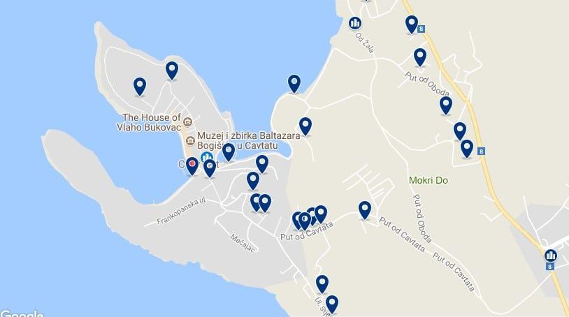 Alojamiento en Cavtat - Clica sobre el mapa para ver todo el alojamiento en esta zona