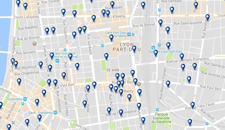 Alojamiento en el Distrito 3 - Clica sobre el mapa para ver todo el alojamiento en esta zona