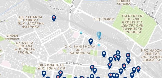Alojamiento cerca de la estación central de trenes de Sofía - Clica sobre el mapa para ver todo el alojamiento en esta zona.png