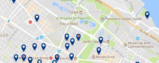 Alojamiento en Recoleta & Bellavista - Clica sobre el mapa para ver todo el alojamiento en esta zona