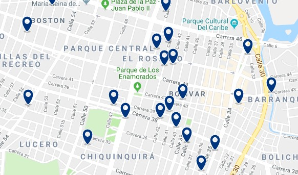 Alojamiento en Barranquilla Centro - Haz clic para ver todo el alojamiento disponible en esta zona