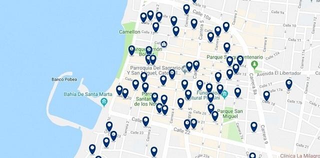 Alojamiento en Santa Marta Centro - Haz clic para ver todo el alojamiento disponible en esta zona