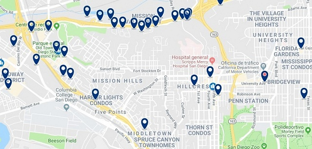 Accommodation in Hillcrest - Click on the map to see all available accommodation in this area