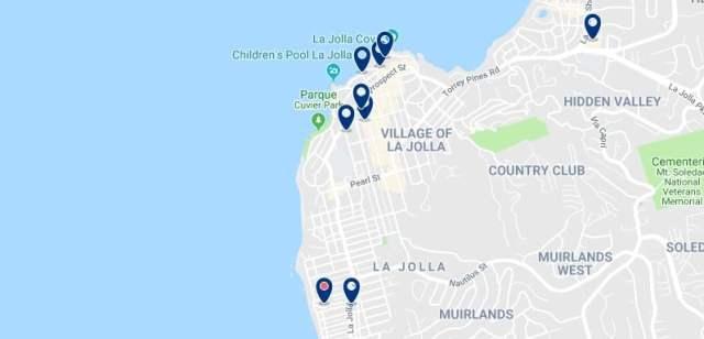Alojamiento en La Jolla - Haz clic para ver todo el alojamiento disponible en esta zona