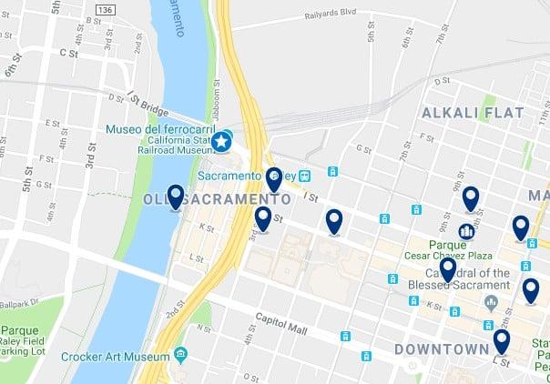 Alojamiento en Old Sacramento - Haz clic para ver todo el alojamiento disponible en esta zona