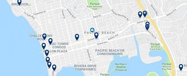 Alojamiento en Pacific Beach - Haz clic para ver todo el alojamiento disponible en esta zona