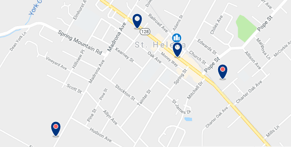 Accommodation in St. Helena – Click on the map to see all available accommodation in this area