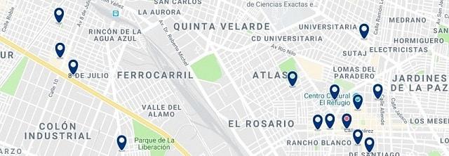 Alojamiento en Tlaquepaque - Haz clic para ver todo el alojamiento disponible en esta zona