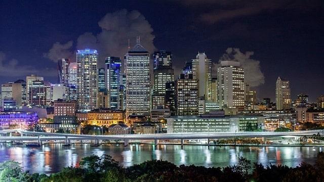Vistas del CBD desde South Brisbane, una de las mejores zonas donde dormir en Brisbane