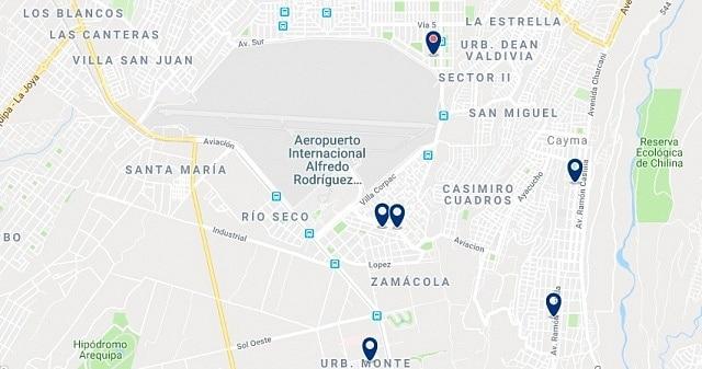 Alojamiento cerca del aeropuerto de Arequipa - Haz clic para ver todo el alojamiento disponible en esta zona
