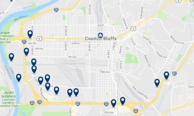 Alojamiento en Council Bluffs - Haz clic para ver todo el alojamiento disponible en esta zona