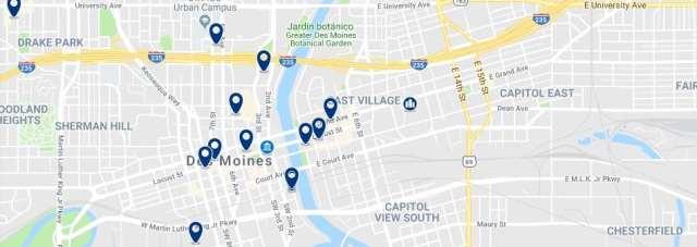 Alojamiento en Downtown Des Moines - Haz clic para ver todo el alojamiento disponible en esta zona