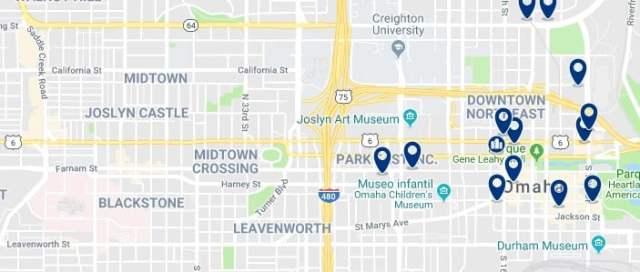 Alojamiento en Downtown Omaha - Haz clic para ver todo el alojamiento disponible en esta zona
