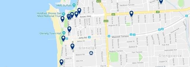 Alojamiento en Glenelg - Haz clic para ver todo el alojamiento disponible en esta zona