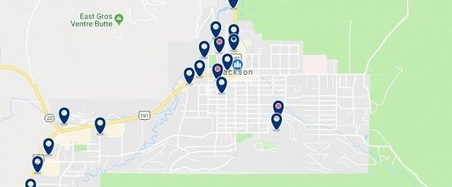 Alojamiento en Jackson Hole - Haz clic para ver todo el alojamiento disponible en esta zona