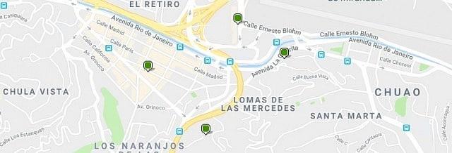 Alojamiento en Las Mercedes - Clica en el mapa para ver todo el alojamiento en esta zona