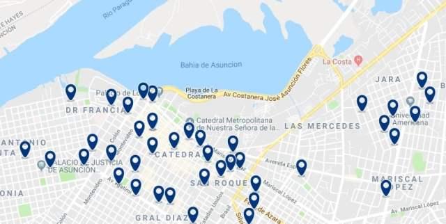 Alojamiento en Asunción Centro Histórico - Haz clic para ver todo el alojamiento disponible en esta zona
