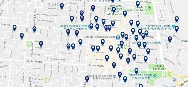 Alojamiento en Salta Centro - Haz clic para ver todo el alojamiento disponible en esta zona