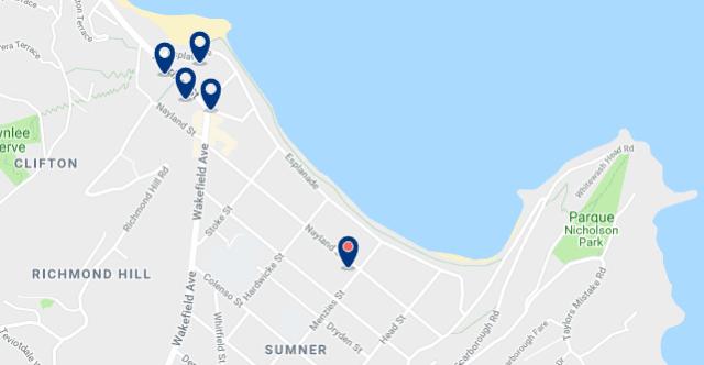 Alojamiento en Sumner – Haz clic para ver todo el alojamiento disponible en esta zona