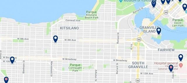 Alojamiento en Kitsilano - Haz clic para ver todo el alojamiento disponible en esta zona
