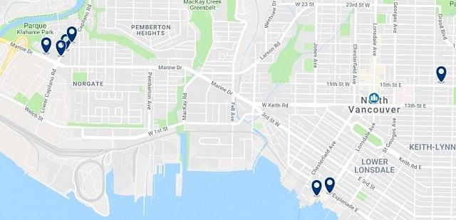 Alojamiento en North Vancouver - Haz clic para ver todo el alojamiento disponible en esta zona