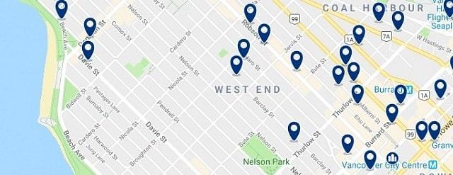 Alojamiento en Vancouver - West End - Haz clic para ver todo el alojamiento disponible en esta zona