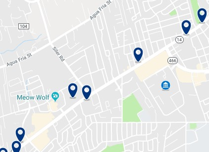 Accommodation near the University of Art and Design - Click on the map to see all available accommodation in the area