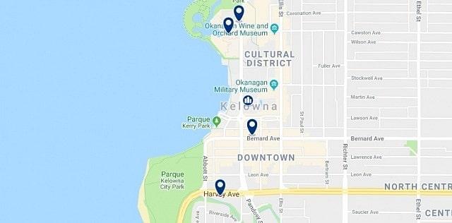 Alojamiento en Downtown Kelowna - Haz clic para ver todo el alojamiento disponible en esta zona
