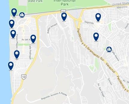 Alojamiento en las Playas de Tijuana - Haz clic para ver todo el alojamiento disponible en esta zona