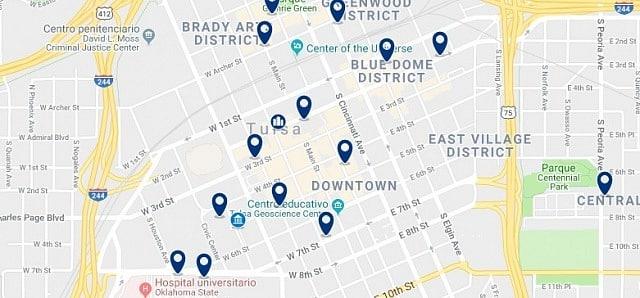 Alojamiento en Downtown Tulsa - Haz clic para ver todo el alojamiento disponible en esta zona