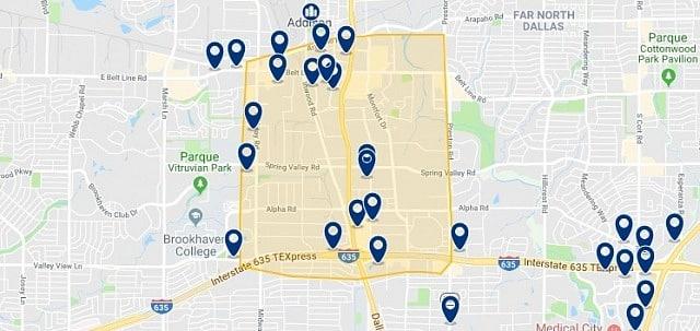Alojamiento en Galleria Dallas - Haz clic para ver todo el alojamiento disponible en esta zona