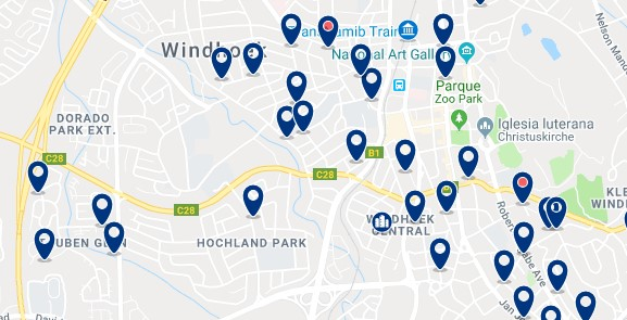 Alojamiento en Windhoek Central - Haz clic para ver todo el alojamiento disponible en esta zona