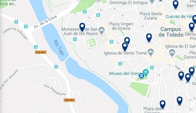 Alojamiento en la Judería de Toledo - Haz clic para ver todo el alojamiento disponible en esta zona
