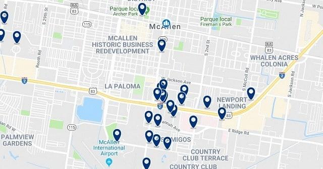 Alojamiento en Downtown McAllen - Haz clic para ver todo el alojamiento disponible en esta zona