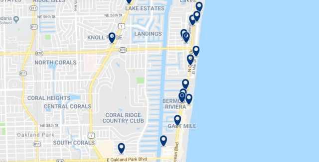 Alojamiento en Fort Lauderdale Beach - Haz clic para ver todo el alojamiento disponible en esta zona