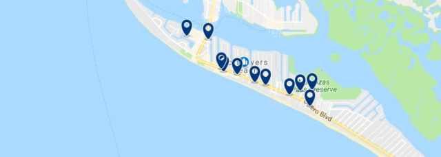 Alojamiento en Fort Myers Beach - Haz clic para ver todo el alojamiento disponible en esta zona