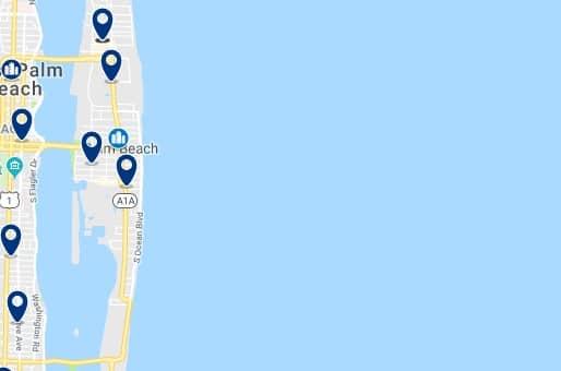 Alojamiento en Palm Beach - Haz clic para ver todo el alojamiento disponible en esta zona