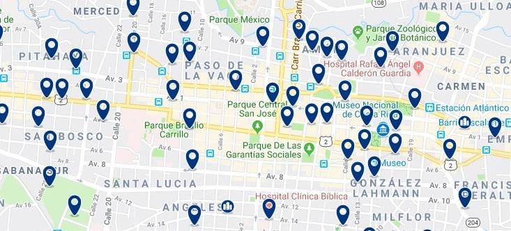 Alojamiento en San José - Centro - Haz clic para ver todos el alojamiento disponible en esta zona