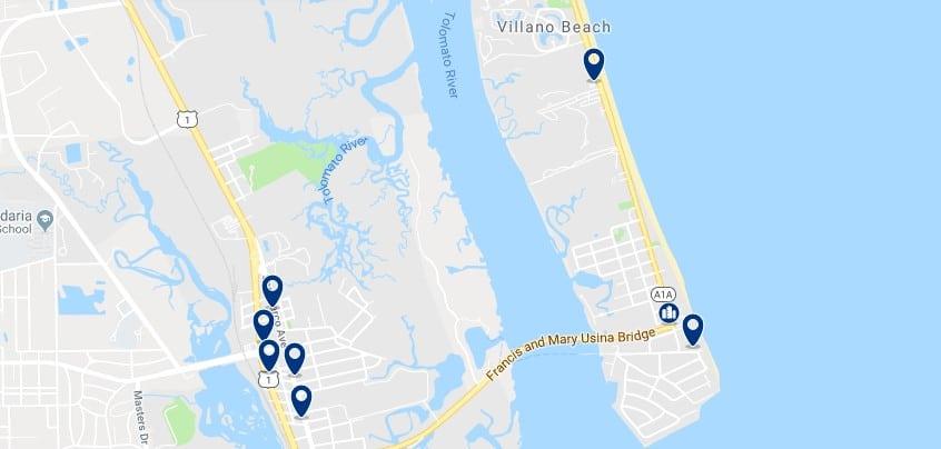 Alojamiento en Villano Beach - Haz clic para ver todo el alojamiento disponible en esta zona