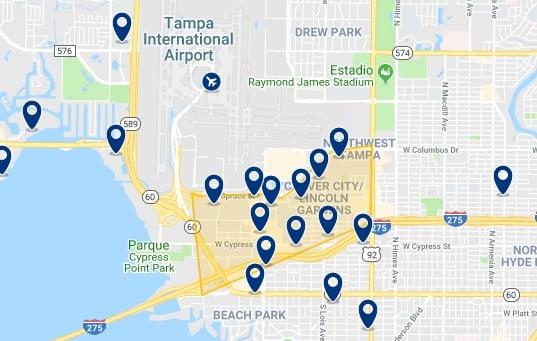 Alojamiento en Westshore y cerca del Tampa International Airport - Haz clic para ver todo el alojamiento disponible en esta zona