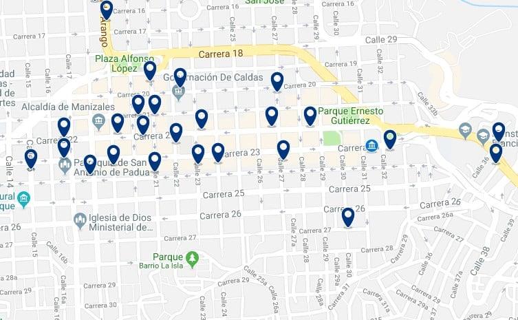 Alojamiento en el Centro de Manizales - Haz clic para ver todo el alojamiento disponible en esta zona