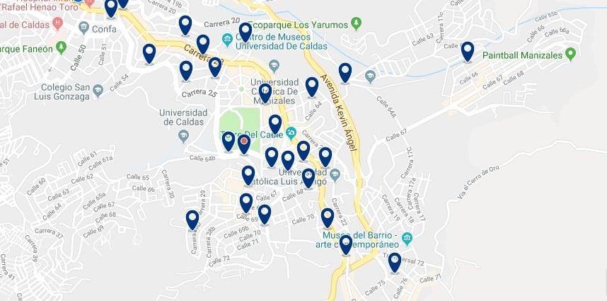 Alojamiento en el Este de Manizales - Haz clic para ver todo el alojamiento disponible en esta zona