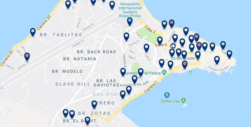 Alojamiento en la Bahía de San Andrés - Haz clic para ver todos el alojamiento disponible en esta zona